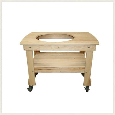 Small Cypress Wood Kamado Grill Table
