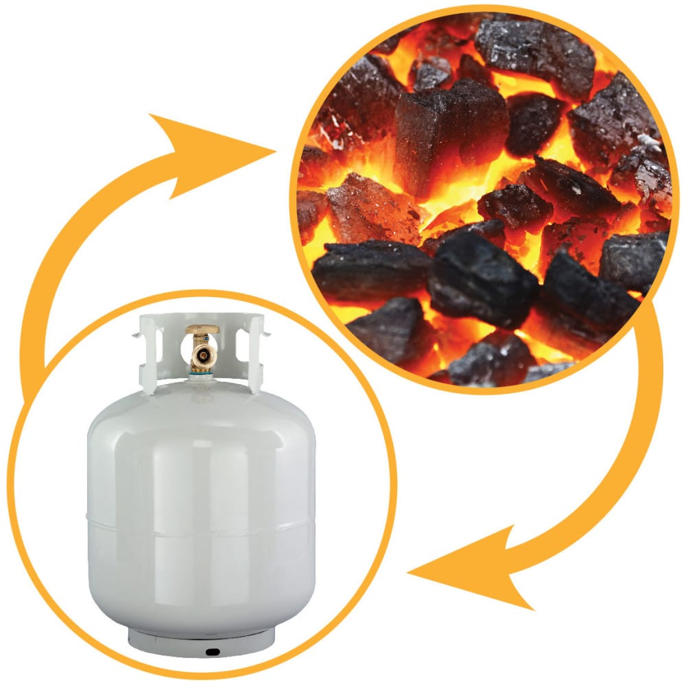 switch from gas to charcoal